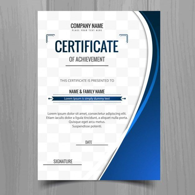 Blue wavy certificate template Vector | Free Download