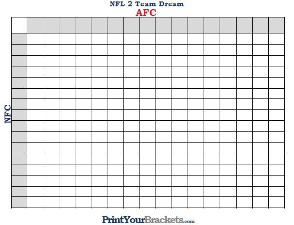 NFL 2 Team Dream Football Pool
