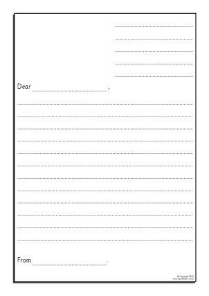 Blank Letter Template For Kids | Calendar Picture Templates