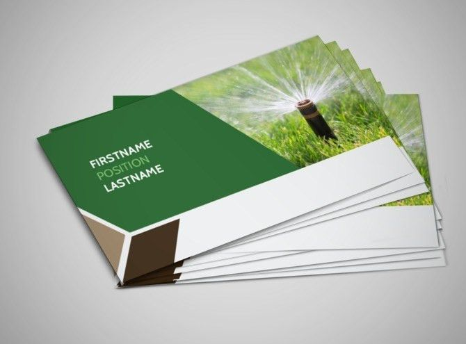 Green Lawn Care Business Card Template | MyCreativeShop