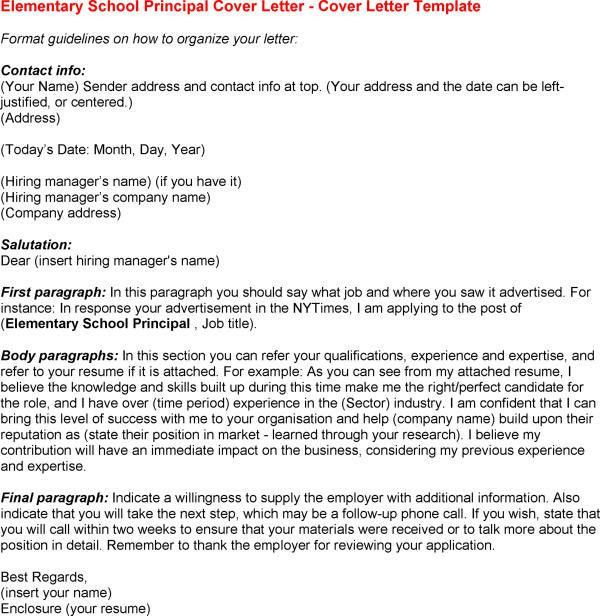 9 Best Images of School Principal Cover Letter Samples - Assistant ...