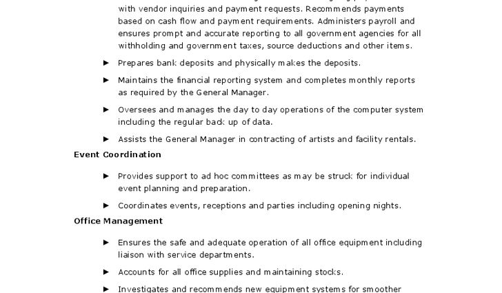 Sample Cultural Job Description Office Administrator Office Admin ...