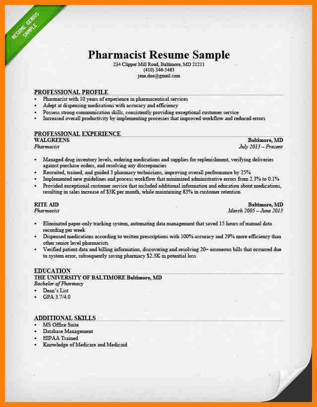 5+ pharmacy technician resume | synopsis format