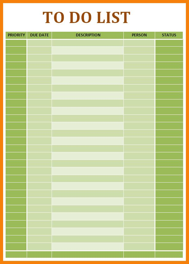 8+ word todo list template | hr cover letter