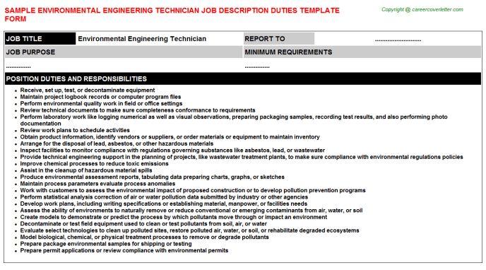 Electrical Engineering Technician Job Descriptions