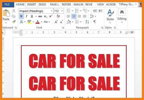 Car Sale Sign Template - cv01.billybullock.us