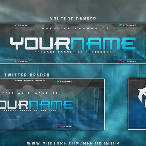 New Youtube Banner Template – Download Free \\ Logo Banner with ...