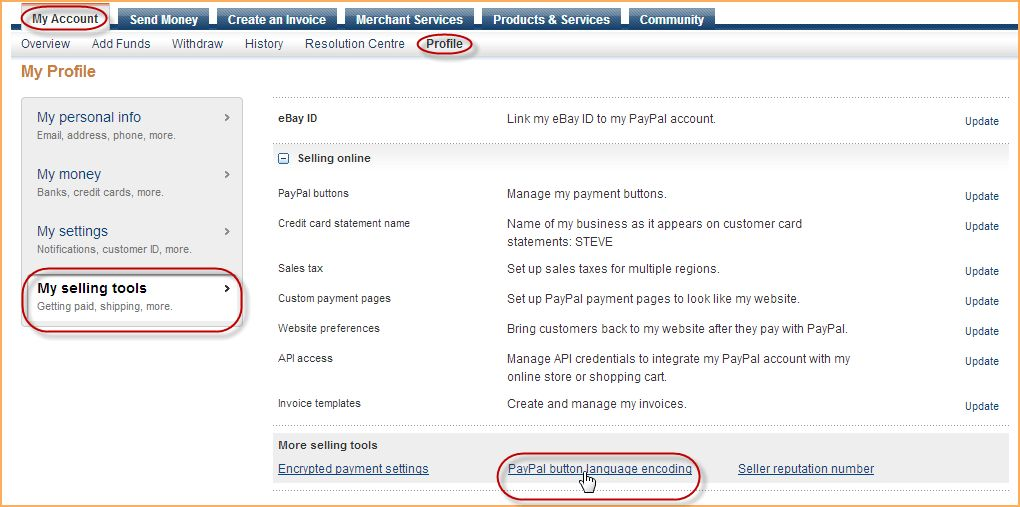 PayPal account setup - Online help - Wild Apricot help