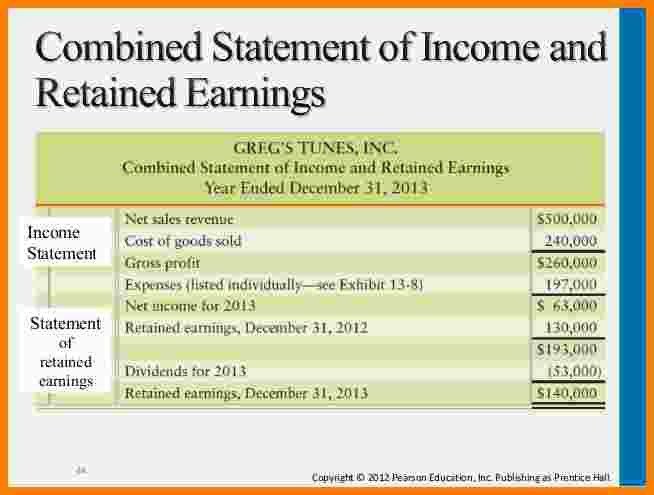 5+ retained earnings statement | Statement Information