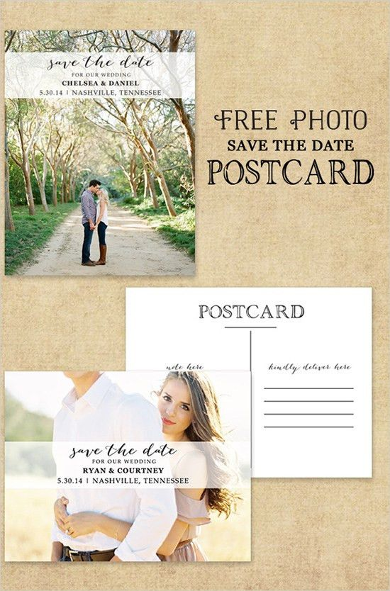 Photo Postcard Save The Date Free Printable | Photo postcards ...