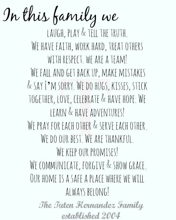 Best 25+ Family mission statements ideas only on Pinterest ...