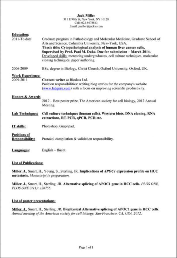 Curriculum Vitae : Resume Template For Education Free Online Job ...