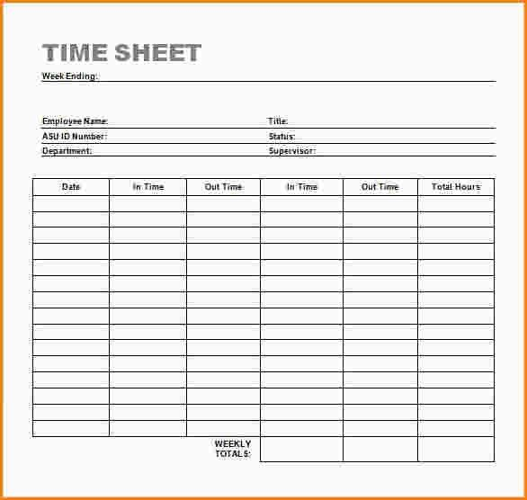 5+ word timesheet template | paradochart