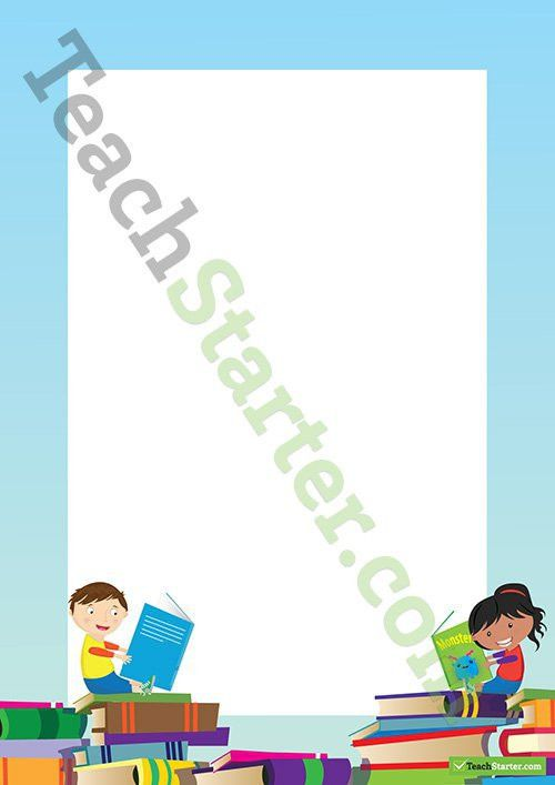 Book Week Border - Word Template Teaching Resource – Teach Starter