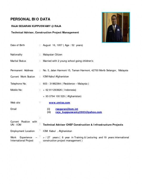 simple biodata format for job. simple biodata format. what is bio ...
