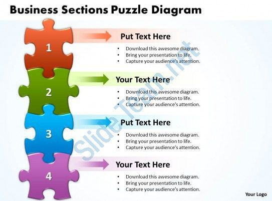 Business Sections Puzzle Diagram Powerpoint templates ppt ...