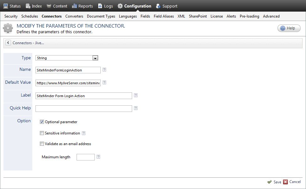 Adding CA SiteMinder Parameters to the Jive 5/SBS/Clearspace ...