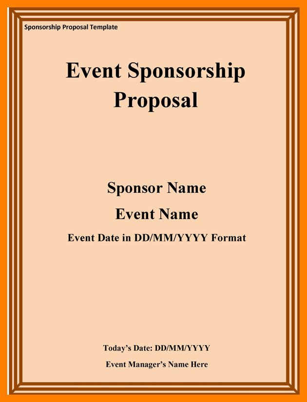 5+ event sponsorship proposal template free | army memo format
