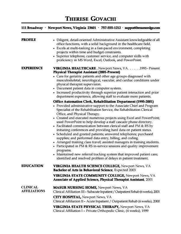 medical resume builder