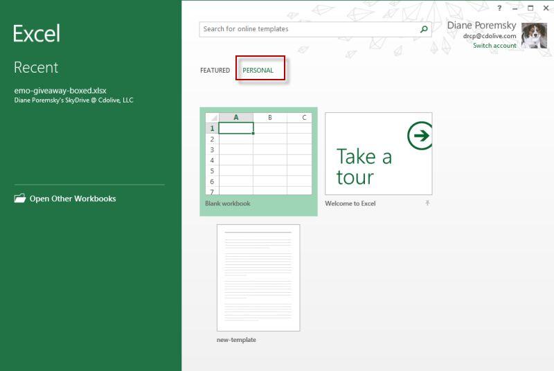 Use local templates with Office 2013 - @Poremsky.com