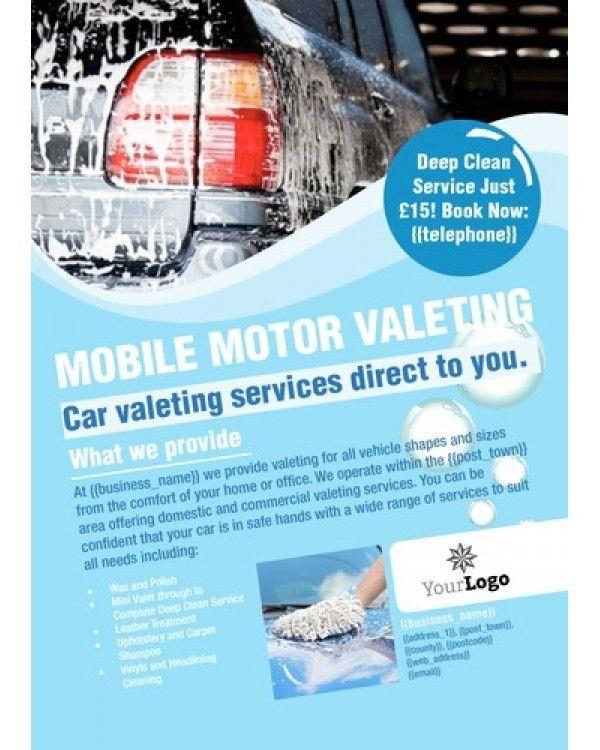 Car Wash A6 Leaflets | – Car – | Pinterest | Car wash, Letterhead ...