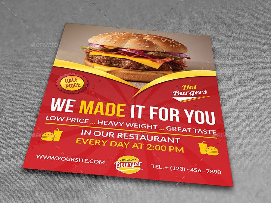 Restaurant Flyer Template Vol.7 by OWPictures | GraphicRiver