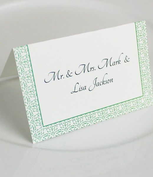 Vintage Reception Place Card Template – Download & Print