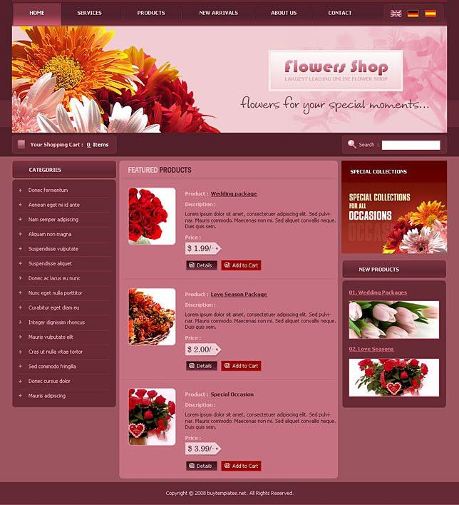 Download themes powerpoint for flower shops