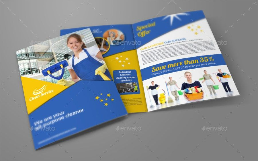 Cleaning Services Brochure Bundle Template by OWPictures ...