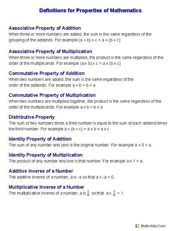 Best 20+ Math properties ideas on Pinterest | Properties of math ...