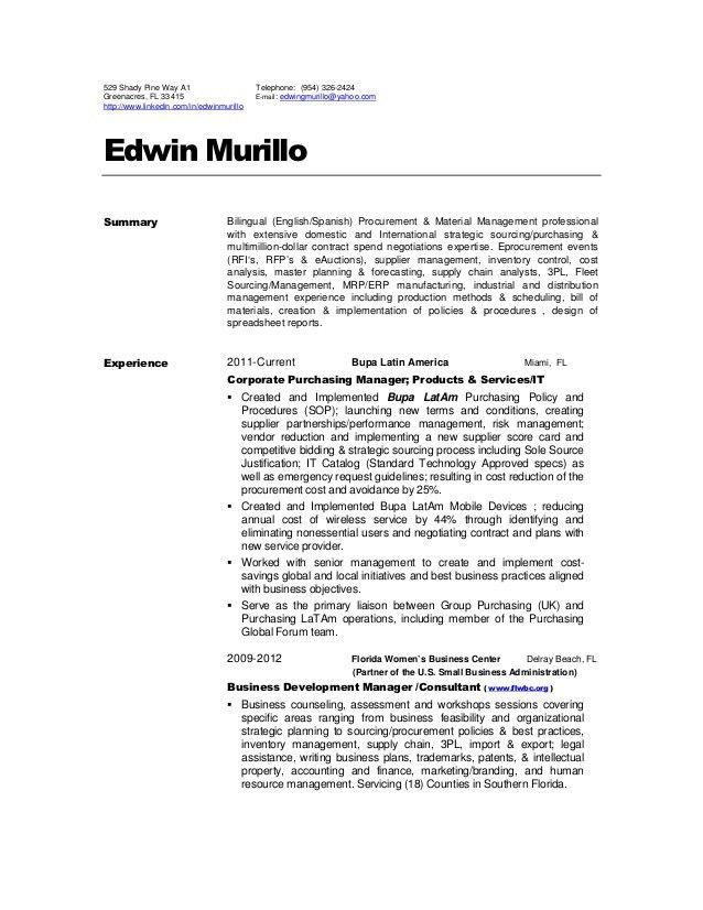 Edwin Murillo Resume 2012