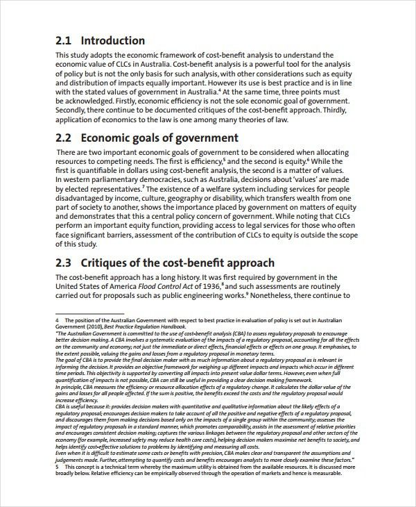 Cost Benefit Analysis Template - 8+ Free Word, PDF Document ...