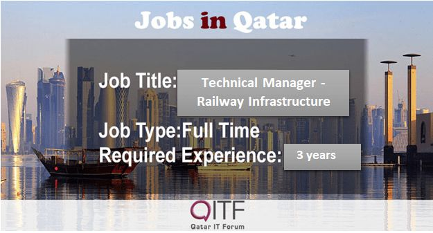 Technical Manager – Railway Infrastructure, Doha City – Qatar IT Forum