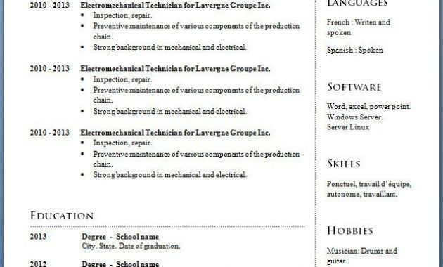 Completely Free Resume Templates [Template.billybullock.us ]