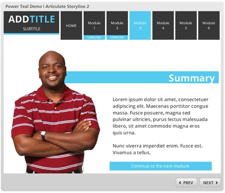 Free E-Learning Template for PowerPoint and Articulate Storyline ...
