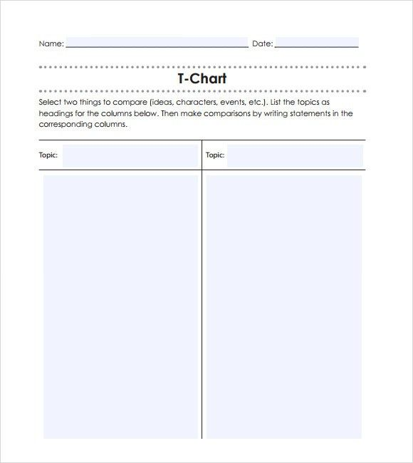 t chart word – Free Online Form Templates