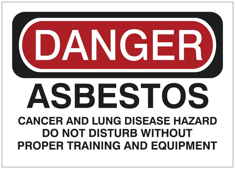 Safety Sign | DANGER Asbestos - Cancer and Lung Disease Hazard ...