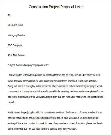 Proposal Letter Examples