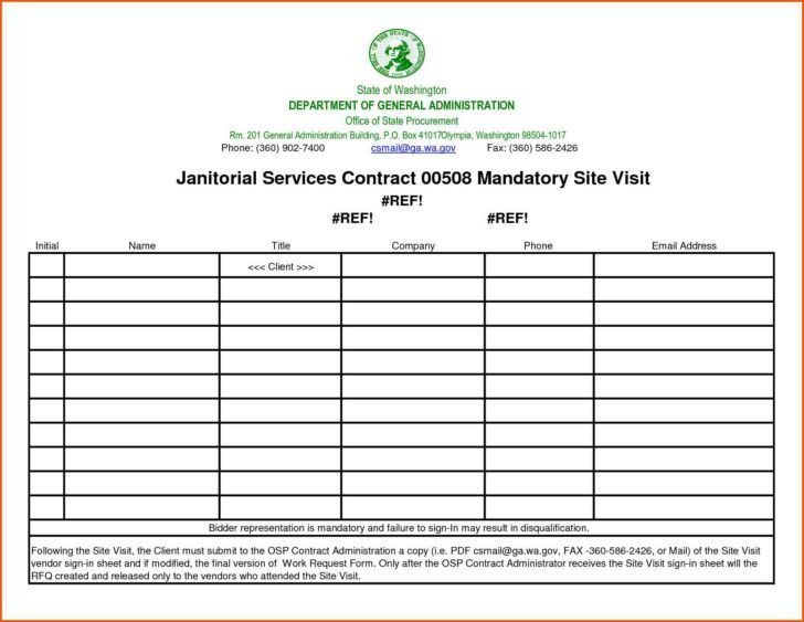 Sign In Sheet Template Excel | HAISUME