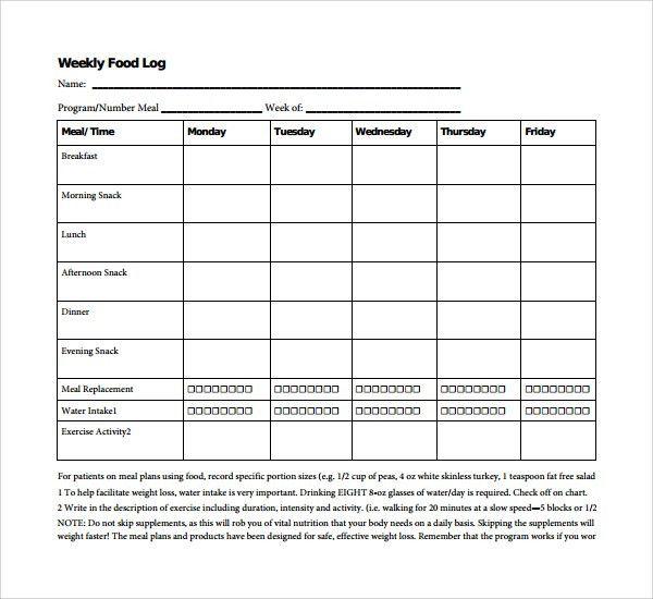 Sample Weekly Log Template - 8+ Free Documents in PDF