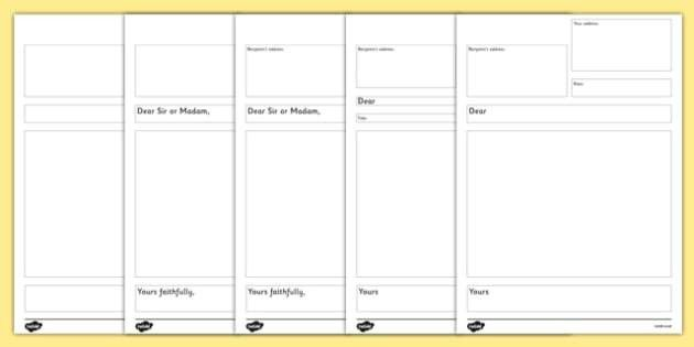 Kids Letter Template - writing a formal letter, template