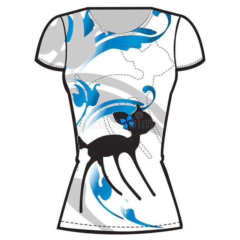 Printed T-shirt Design Template Stock Image - Image: 9202601