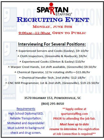 Goodwill to Host Job Fairs on June 8th,15th, and 16th ...