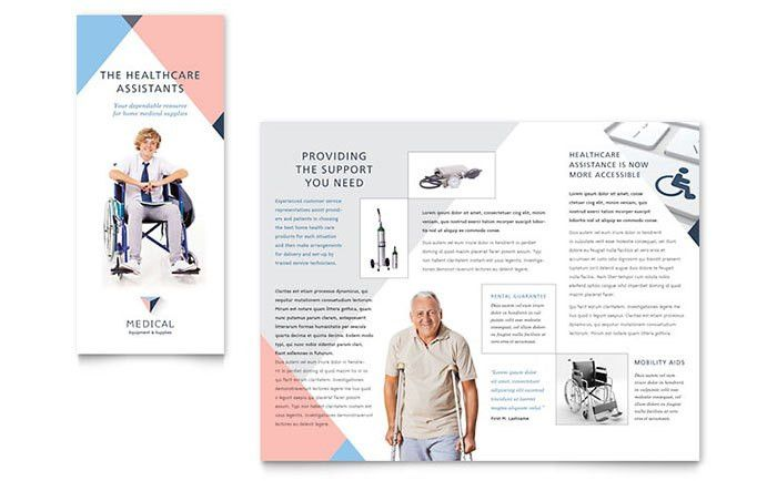 Home Medical Equipment Brochure Design Template by StockLayouts ...