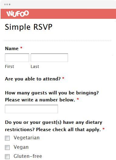 Online Form Template | Wufoo