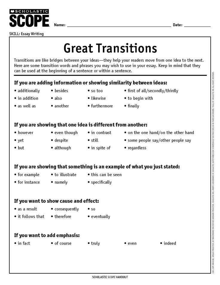 Best 25+ Transition words ideas on Pinterest | Transition words ...