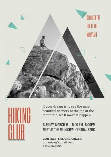 Hiking Club Recruitment Flyer Template Template | FotoJet