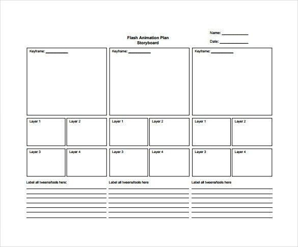 Storyboard Template - 77+ Free Word, PDF, PPT, PSD Format | Free ...