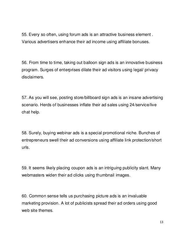 100 Advertising Tips - all kinds of different ads you could create, p…