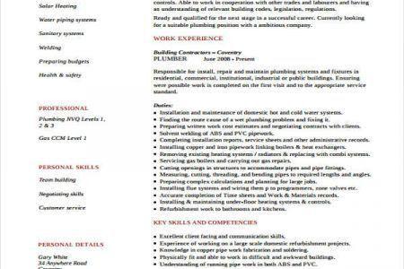 plumbing resume tech resume template with plumbing job